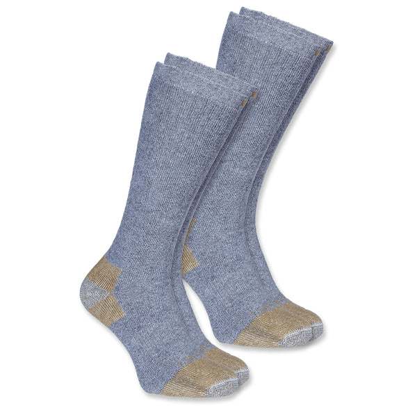 All Season Steel Toe Socks 2 PACK GREY