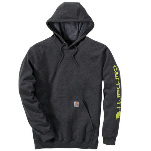 Midweight Signature Sleeve Logo Hoodie Carbon Heather
