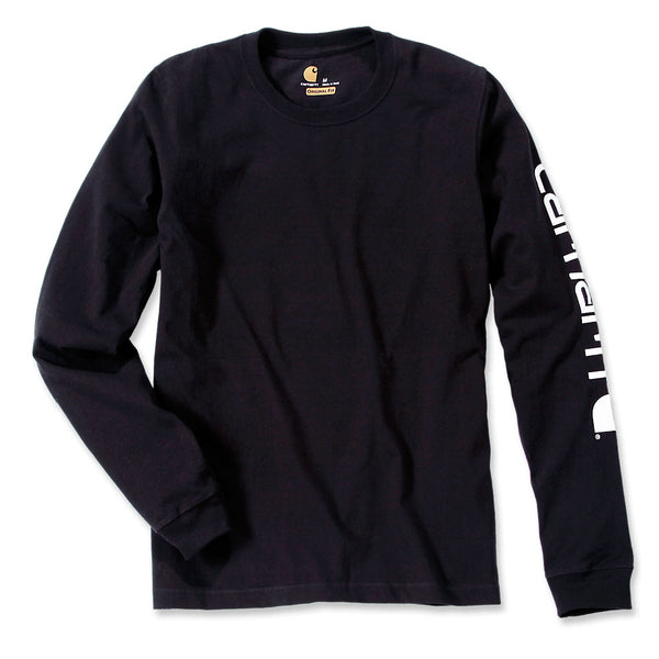 SIGNATURE SLEEVE LOGO LONG-SLEEVE T-SHIRT Black