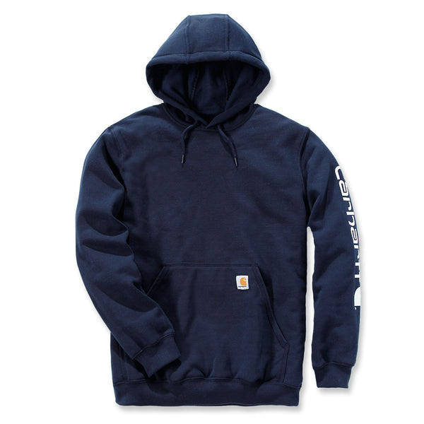 Midweight Signature Sleeve Logo Hoodie New Navy