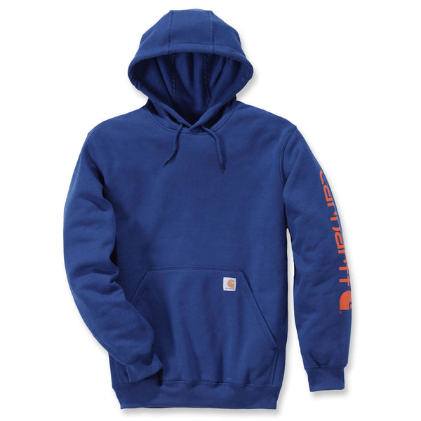 Midweight Signature Sleeve Logo Hoodie Superior Blue