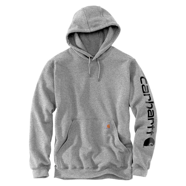 Midweight Signature Sleeve Logo Hoodie Heather Grey