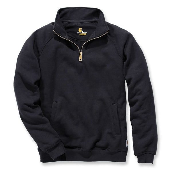 MIDWEIGHT QUARTER ZIP MOCK NECK SWEATSHIRT