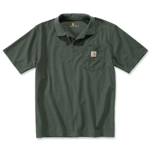 CONTRACTOR'S WORK POCKET POLO Moss