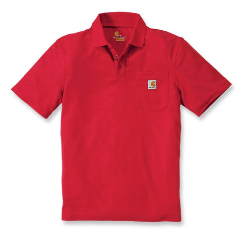 CONTRACTOR'S WORK POCKET POLO Red