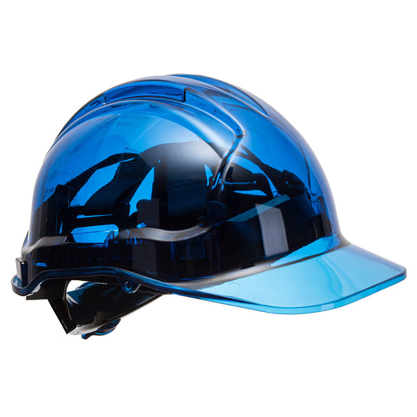 Peak View Plus Ratchet Hard Hat Blue