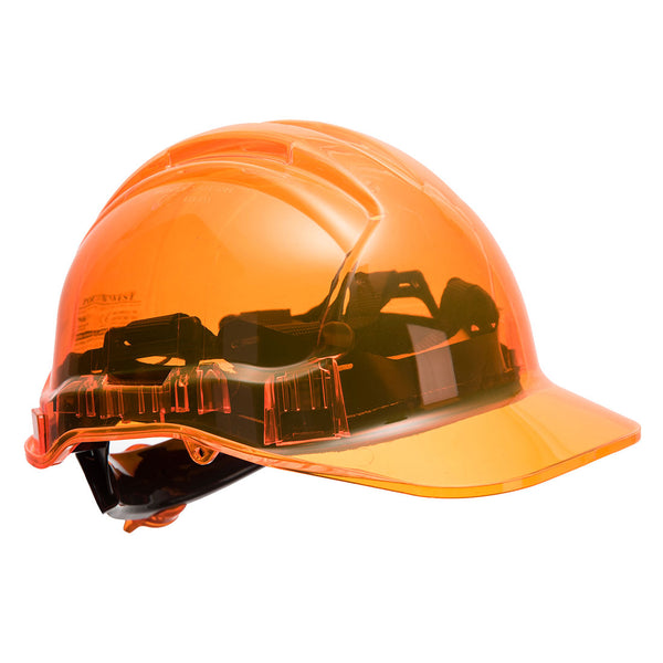 Peak View Plus Ratchet Hard Hat Orange