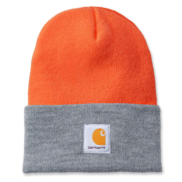 WATCH HAT Bright Orange/Grey