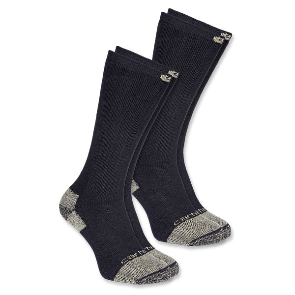 All Season Steel Toe Socks 2 PACK BLACK
