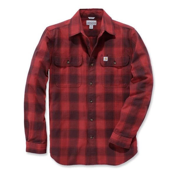 HUBBARD SLIM-FIT FLANNEL SHIRT Dark Crimson