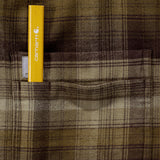 HAMILTON PLAID LONG-SLEEVE FLANNEL SHIRT Military Olive
