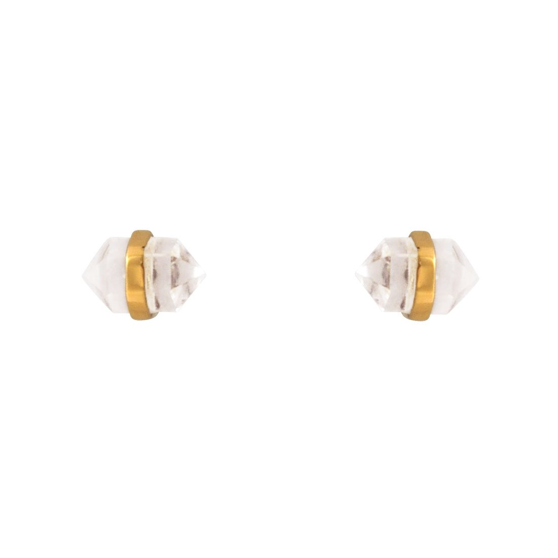 Gold Crystal Studs