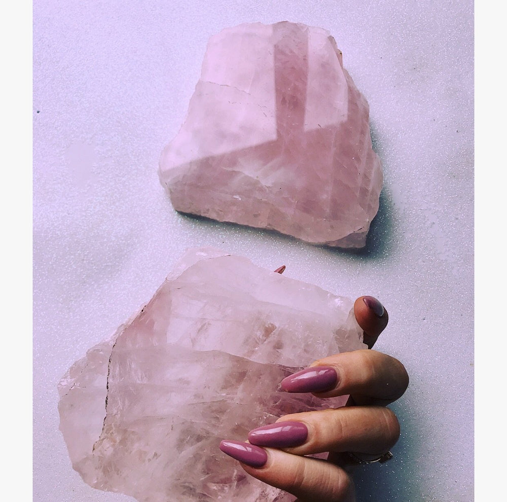 Rose Quartz Crystal Slab