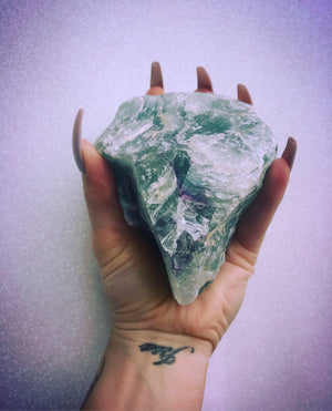 Raw Green Fluorite Crystal