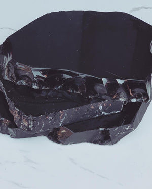 Load image into Gallery viewer, Black Obsidian Crystal Slab