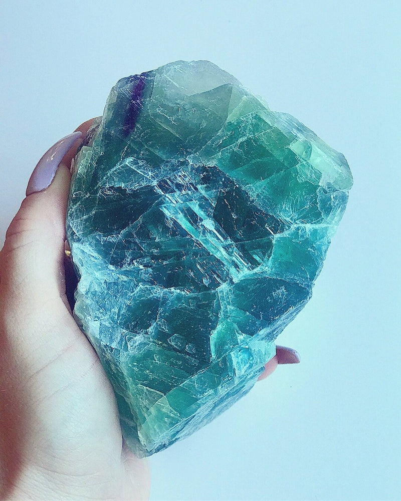 Load image into Gallery viewer, Raw Green Fluorite Crystal