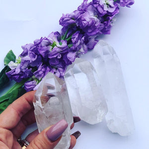 Chunky Clear quartz points