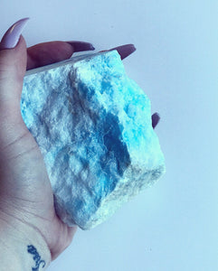 Blue Aragonite Crystal