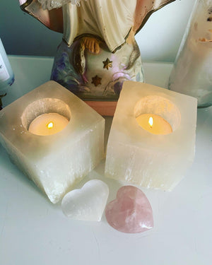 Selenite Tea Light