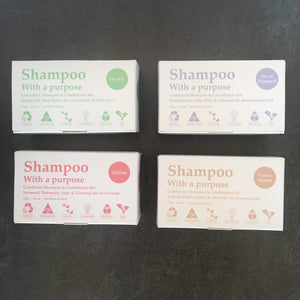 Clover Fields Reusable personal care Dry or damaged hair Clover Fields Shampoo & Conditioner Bar Eco Friendly Hair Care