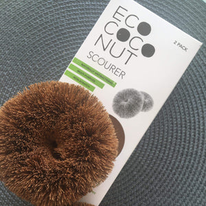 EcoCoconut Reusable cleaning products Ecococonut Reusable Recyclable Scourers Non Scratch Biodegradable Plastic Free