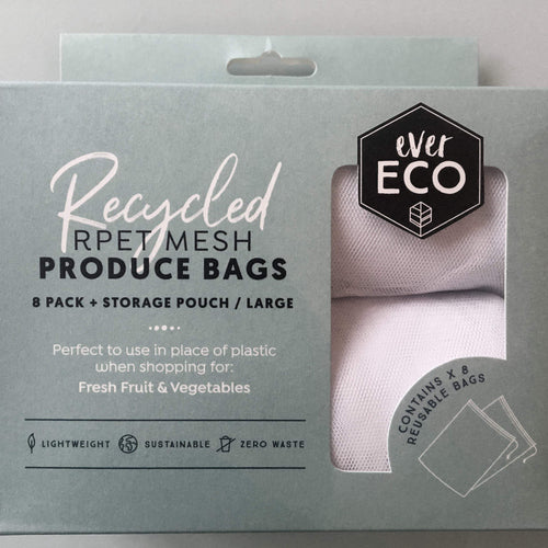 EverEco Reusable bags EverEco Mesh Reusable Fruit Vegetable Herb Produce Bags, Pack of 8, Carry Pouch