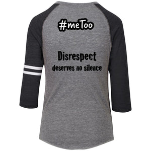 LADIES' #meToo protest V-neck T-shirt: Disrespect deserves no silence