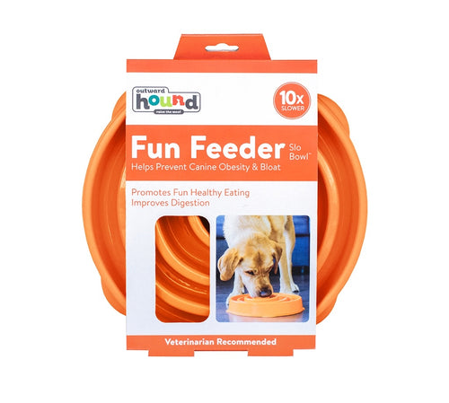 Outward Hound Fun Feeder Slo-Bowl Orange