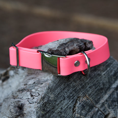 Adventure Slide Release Collar - Hi Vis Pink