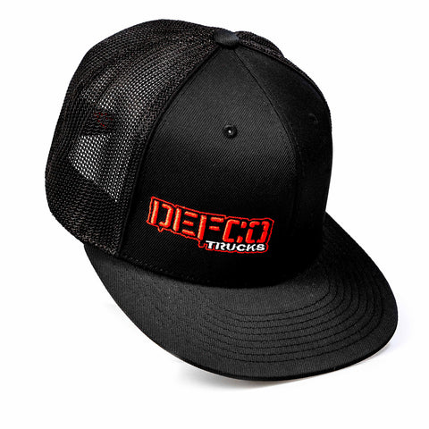 """DEFCO Trucks"" Black Mesh-Back Trucker Hat"