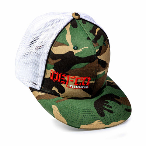"""DEFCO Trucks"" Camo/White Mesh-Back FlexFit Hat"