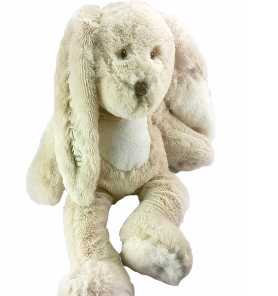 TEDDY BEAR WITH NAME RABBIT TEDDY CREAM, TEDDYKOMPANITE, GRAY - PetitePeople