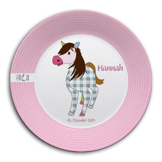 Dish set with name horse - PetitePeople