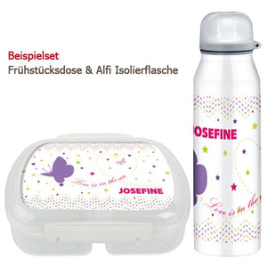 School set can and bottle of butterfly - PetitePeople