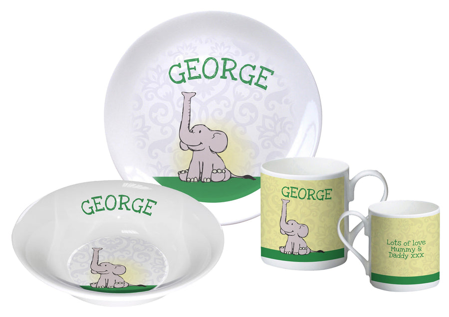 Baby Boy Elephant breakfast set - PetitePeople