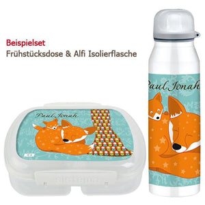 School set can and bottle Floral fox - PetitePeople