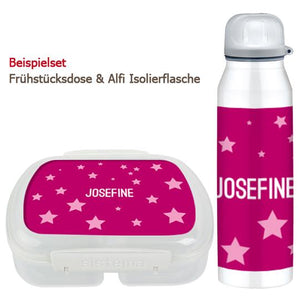 School set can and bottle of stars pink - PetitePeople