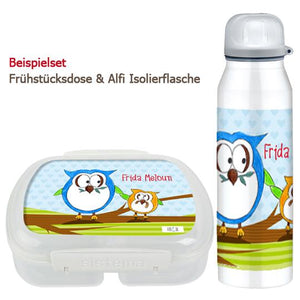 School set can and bottle of owls - PetitePeople