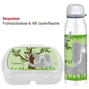 School set can and bottle elephant - PetitePeople