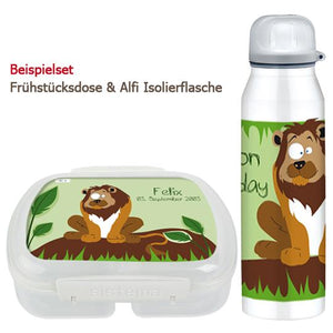 School set can and bottle of lion - PetitePeople