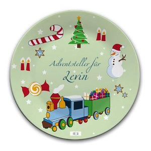 Personalised Small Plate w/ train - PetitePeople