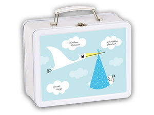 Welcome case Stork blue, personalized - PetitePeople