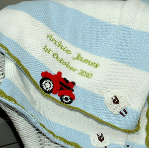 Personalised blanket - Tractor