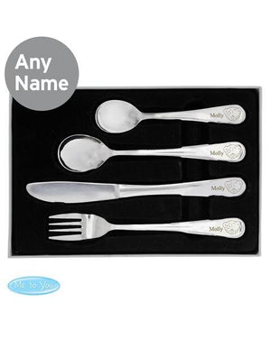 Engraved Cutlery Teddy Bear Set - Personalised for kids - PetitePeople