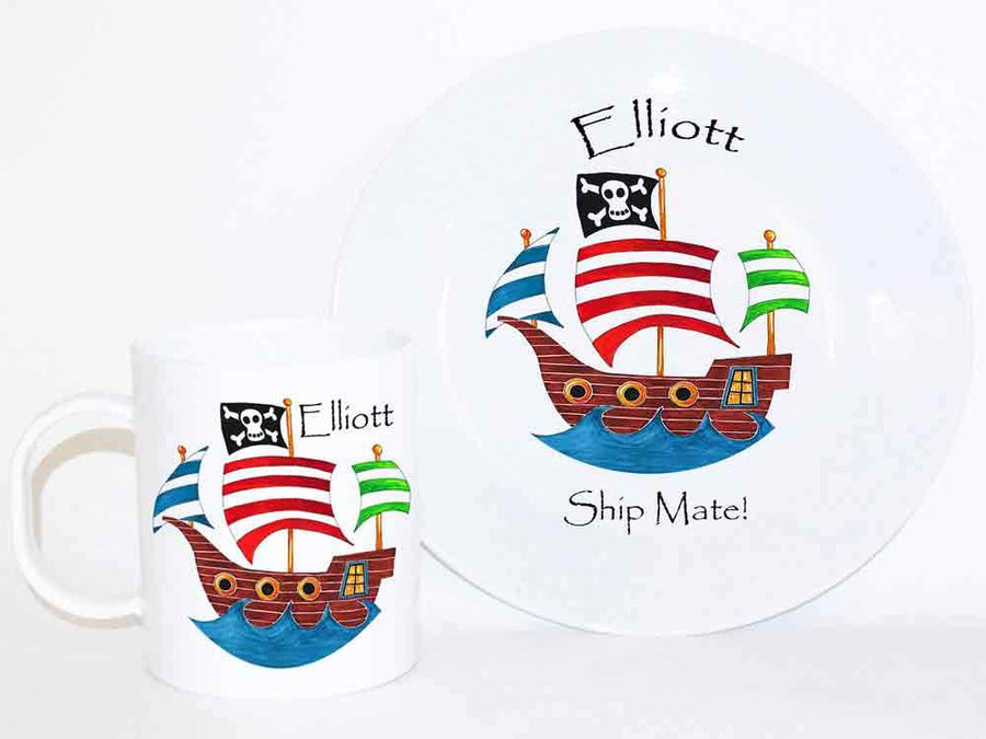 Personalised Dinner Set, Pirate