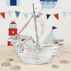 Personalized Pirate Ship Moneybox - PetitePeople