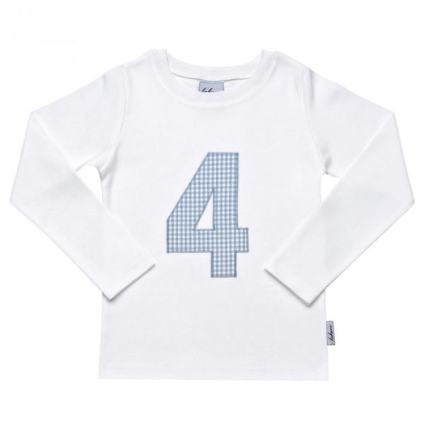 "Fine T-Shirt with Gingham Number ""I am ... 1, 2, 3, 4, 5, 6"" - PetitePeople, Shirt[product_tag]"