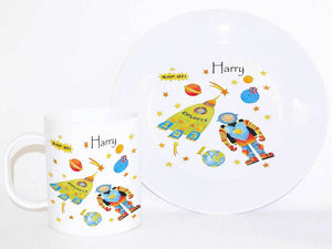 Personalised Cup & Dinner Set, Space