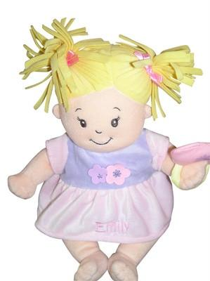 Personalised Ragdoll Baby Stella with Blonde Hair - PetitePeople