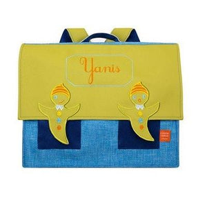 Personalised school satchel in blue - PetitePeople